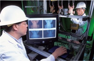 Hyperspectral imaging used in food inspection