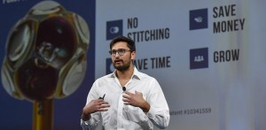 Zak Niazi, Founder and CEO of Circle Optics, pitches the companys Hydra 360 degree camera at the 2020 Startup Challenge Finals in San Francisco