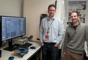 Richard Thorogate and Professor Guillaume Charras with their JPK NanoWizard4 AFM system