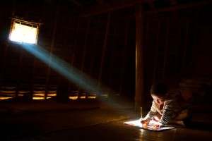 Studying by Handi Laksono is the Peoples Choice Award winner in the SPIE International Year of Light Photo Contest
