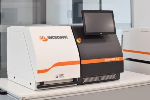 The microPREP 20 laser ablation system from 3D-Micromac provides high-volume sample preparation of metals, semiconductors, ceramics and compound materials for microstructure diagnostics and failure analysis