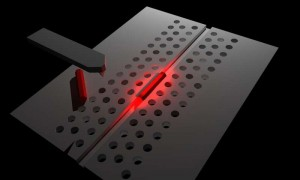 Schematic of a nanowire photonic crystal hybrid laser fabricated by nanoprobe manipulation