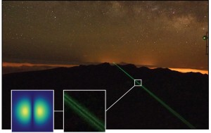 Screw of light on the 143 km long way between the canary islands of La Palma and Tenerife Copyright University Vienna