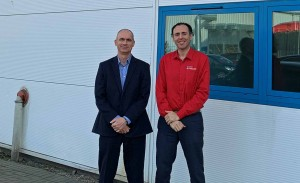 PowerPhotonic CEO Roy McBride with Jose Pozo