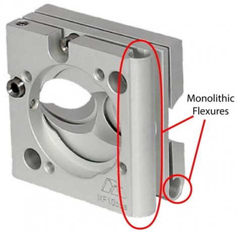Next-generation monolithic flexure mount