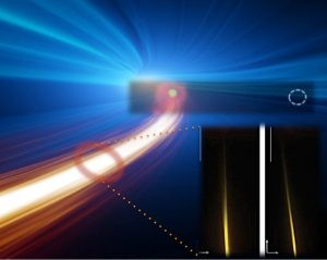 Researchers at Case Western Reserve University, along with collaborators around the world, have been able to control the direction of a lasers output beam by applying external voltage