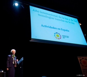 Prof Maria Josefa Yzuel during the Opening Ceremony Credits ICFOR Josa