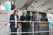 Photo FH AachenArnd Gottschalk Grand Opening of XLine 2000R on June 1st, 2017 From Left to Right Prof Dr Doris Samm, Prorector for Research and Innovation at FH Aachen University of Applied Sciences Prof Dr Andreas Gebhard, Dean of department Mechanical E