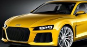 Laser diode headlights in Audi Sport Quattro Image courtesy Audi