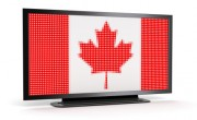 Canadian flag displayed in computer monitor