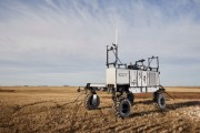 The Dot Power Platform is a mobile diesel-powered platform designed to handle a large variety of agricultural implements Photo Raven Industries