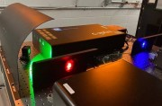 A broad colour palette from three tunable HBNER Photonics sources The blue and red light in the foreground comes from two C-WAVES METAs new GTR in the background supplies tunable green light in a wavelength range that was previously inaccessible Metamater