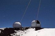 Laser Guide Star Adaptive Optics LGS AO at the Keck Observatory, Hawaii Image courtesy of Andrew Cooper