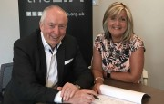 Pictured at the LIA Telford is LIAs Commercial Manager Julie Humpreys and LAI Chairman Gay Byrne