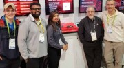 Mirrorcle CES delegation joins the Microchip team at Microchip Technologys CES 2019 booth MP26166 to demonstrate world-leading MEMS mirrors-based laser projection systems From Right to Left - Dr Veljko Milanovic, Donald Humbert Microchip, Wafa Iqbal Micro